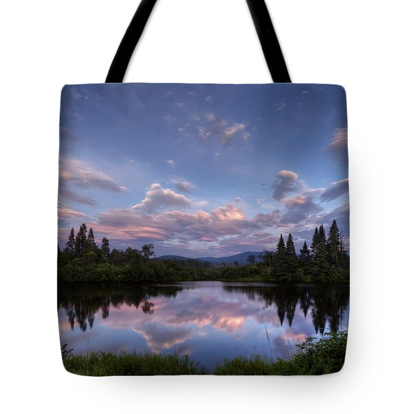 Great North Woods Sunset In New Hampshire Tote Bag