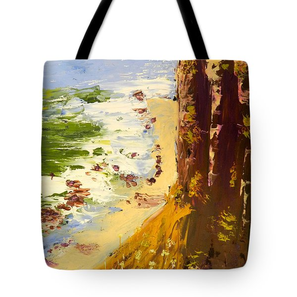 Tote Bag featuring the painting Great Ocean Road by Pamela  Meredith