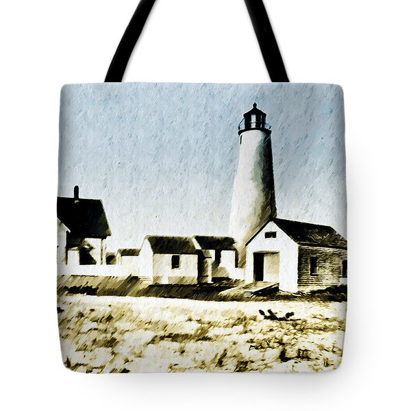 Great Point Lighthouse Nantucket Tote Bag by Bill Cannon