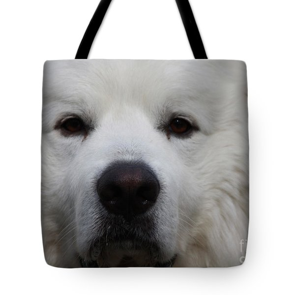 Great Pyrnesse Portrait Tote Bag by John Telfer