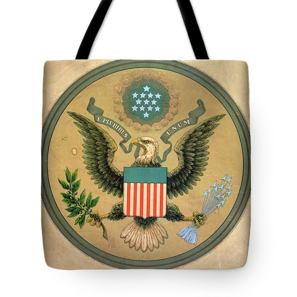 Great Seal Of The United States, C.1850 Litho Tote Bag