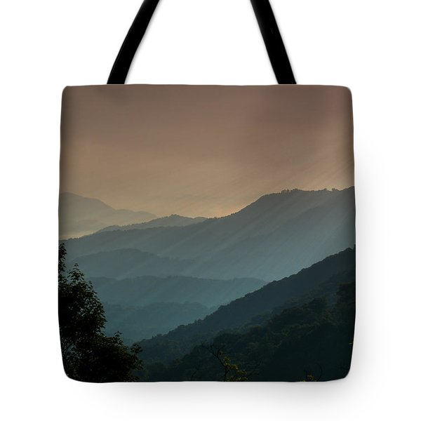 Tote Bag featuring the photograph Great Smoky Mountains Blue Ridge Parkway by Patti Deters