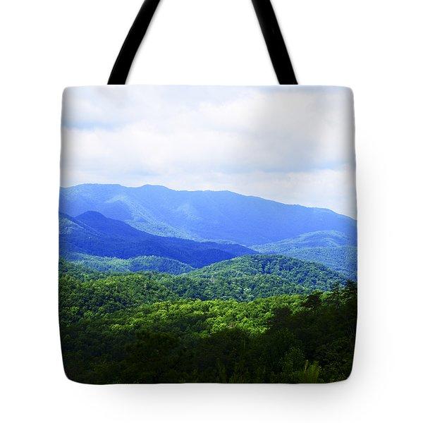 Great Smoky Mountains Tote Bag by Christi Kraft
