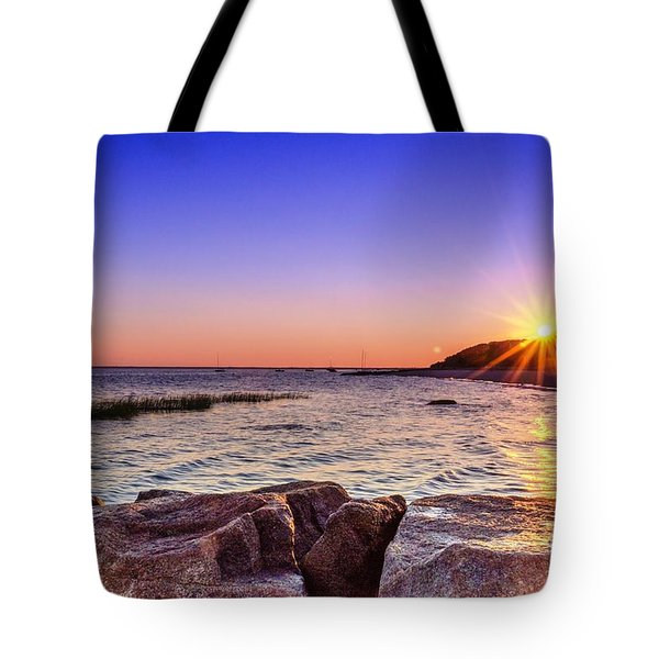 Tote Bag featuring the photograph Saints Landing Cape Cod by Mike Ste Marie