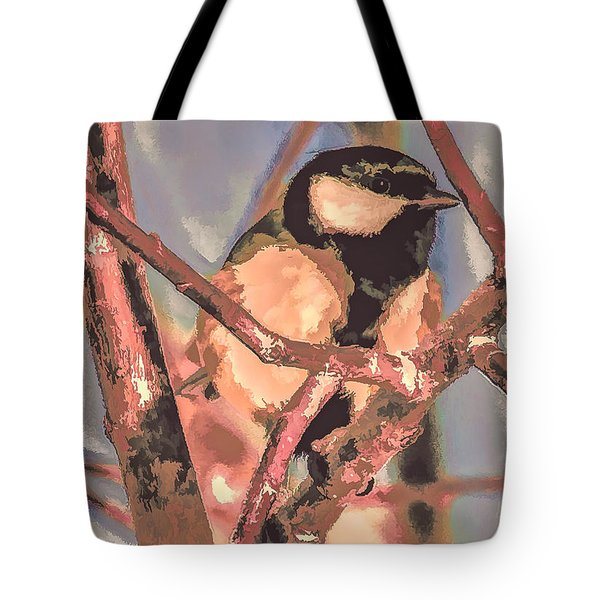 Tote Bag featuring the photograph Great Tit  A  Leif Sohlman by Leif Sohlman