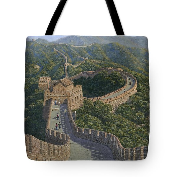 Great Wall Of China Mutianyu Section Tote Bag by Richard Harpum