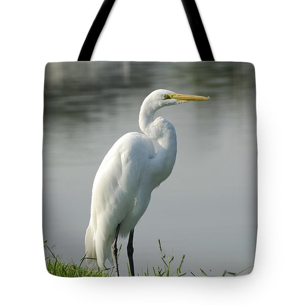 Great White Egret Tote Bag by Charles Beeler