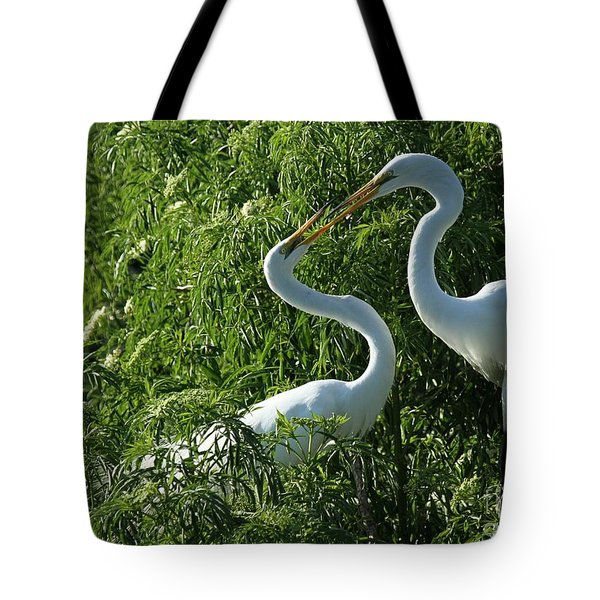 Great White Egret Lovers Tote Bag