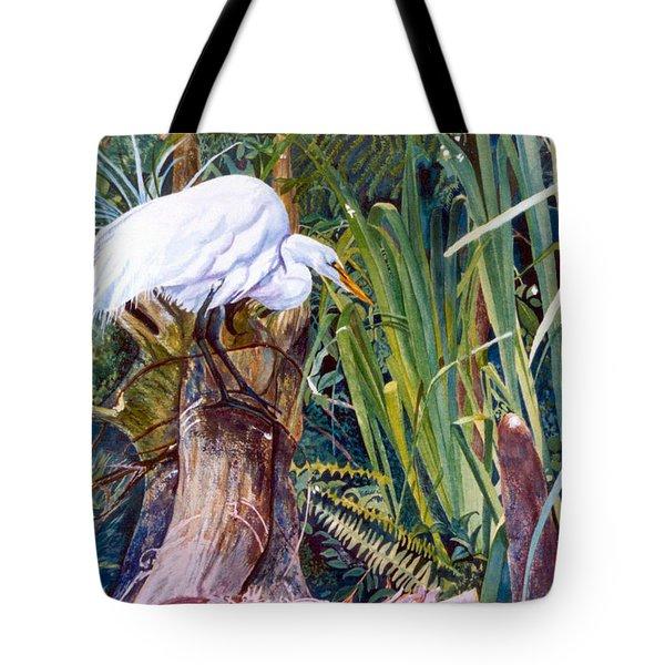 Great White Heron Sanctuary Tote Bag