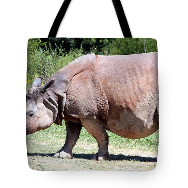 Greater One-horned Asian Rhino Tote Bag by Laurel Talabere