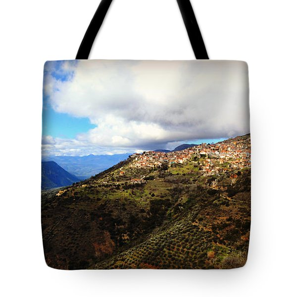 Greece Countryside Tote Bag