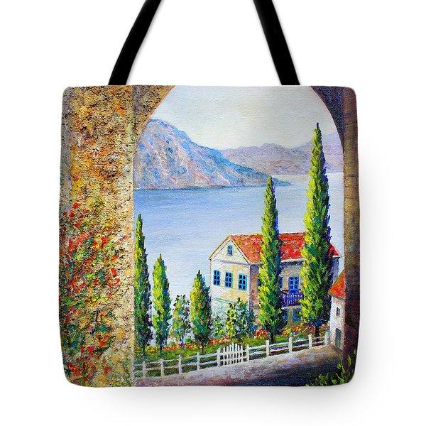 Greek Arch Vista Tote Bag