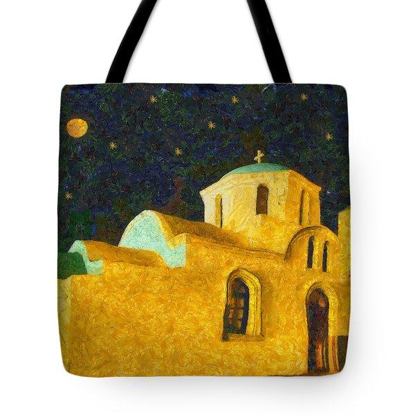 Greek Church Tote Bag by George Rossidis