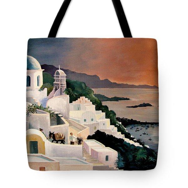 Greek Isles Tote Bag by Marilyn Smith
