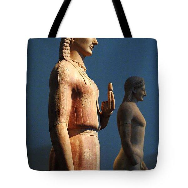 Greek Sculpture Athens 1 Tote Bag by Bob Christopher