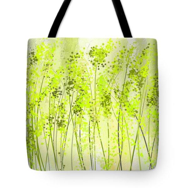 Green Abstract Art Tote Bag