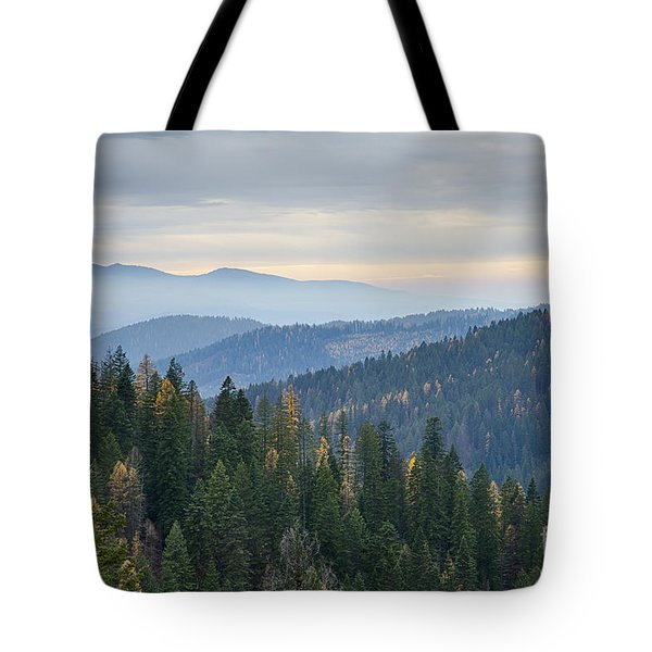 Green And Gold Forest Tote Bag