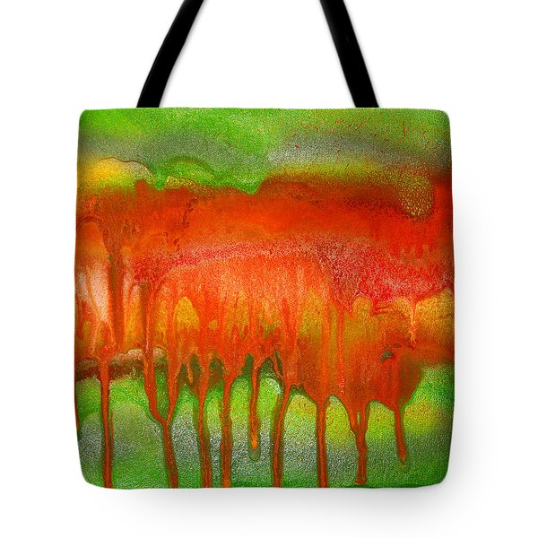 Green And Orange Abstract Tote Bag