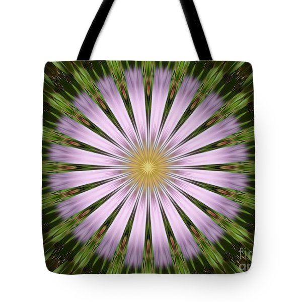 Green And Purple Starburst Tote Bag
