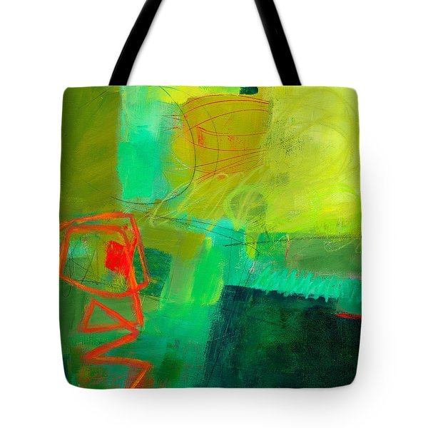 Green And Red #1 Tote Bag by Jane Davies