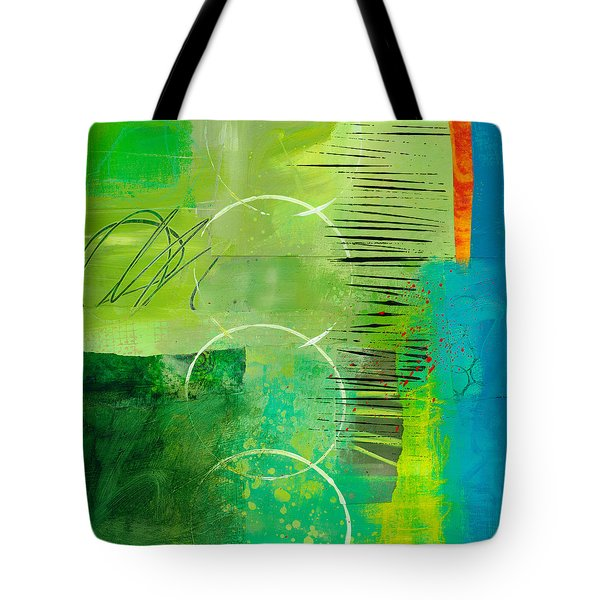 Green And Red 5 Tote Bag by Jane Davies