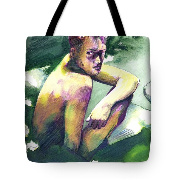 Green And White Light Tote Bag