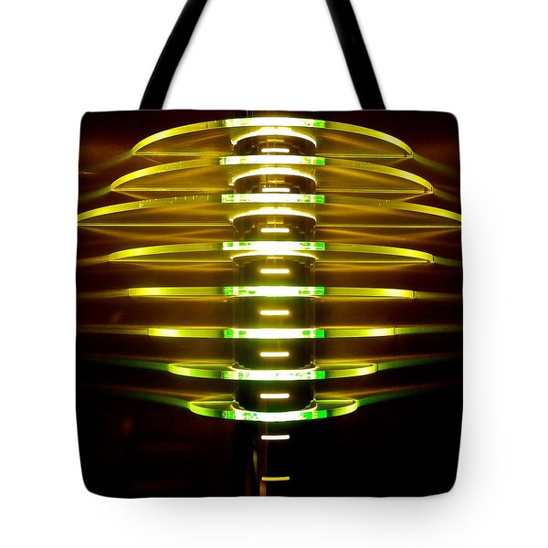 Green And Yellow Light Reflectors Tote Bag by Kirsten Giving