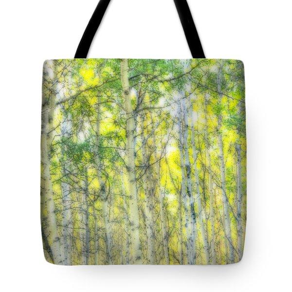 Green And Yellow Tote Bag by Wanda Krack