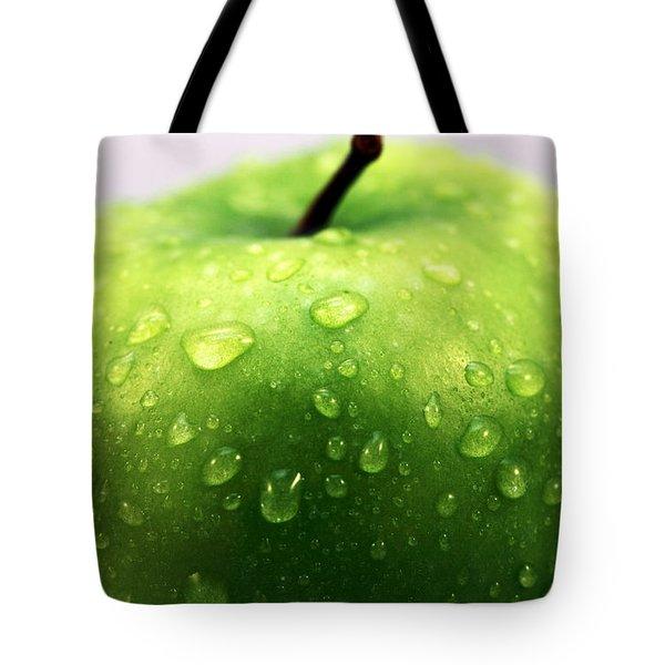 Green Apple Top Tote Bag by John Rizzuto