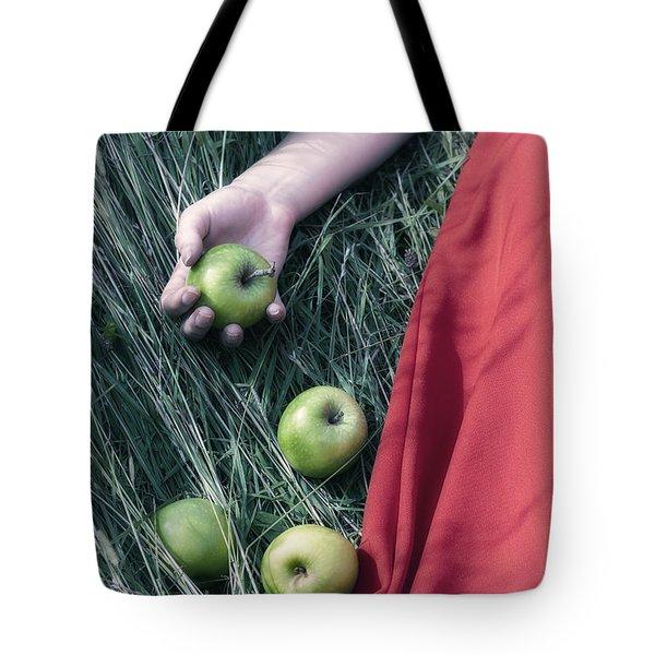 Green Apples Tote Bag by Joana Kruse