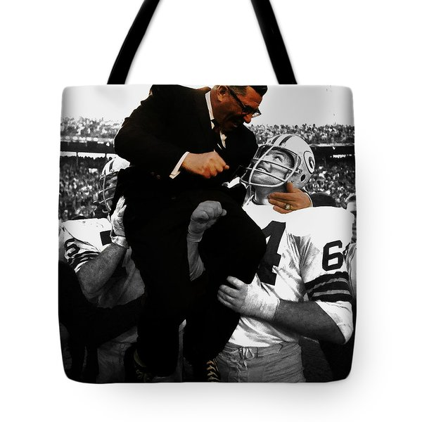 Vince Lombardi Green Bay Packers Tote Bag