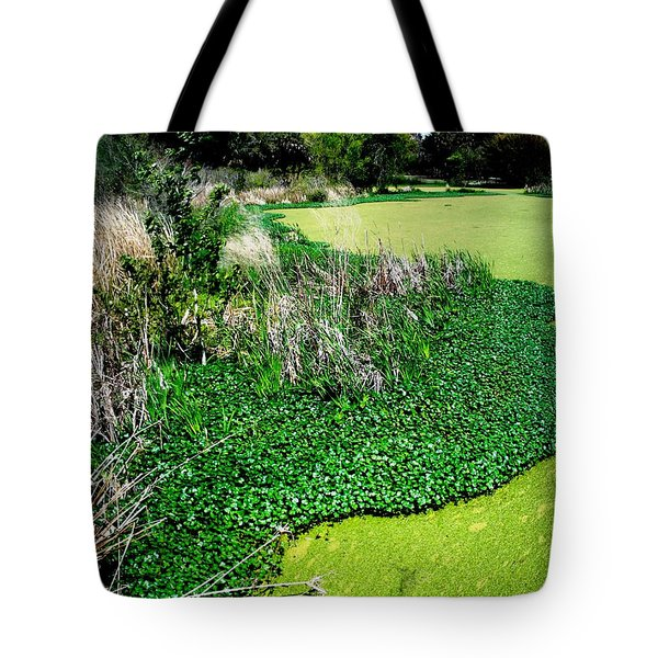 Green Belt Tote Bag by Robin Lewis