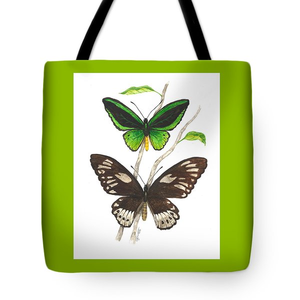Green Birdwing Butterfly Tote Bag