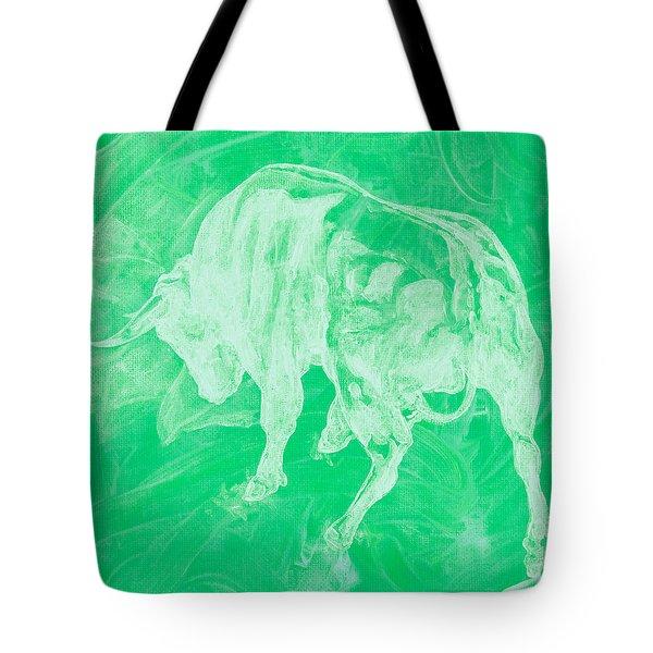 Green Bull Negative Tote Bag