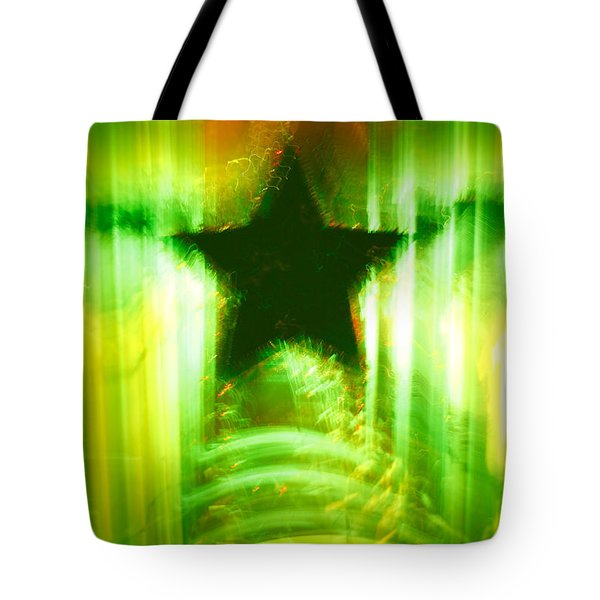 Green Christmas Star Tote Bag by Gaspar Avila