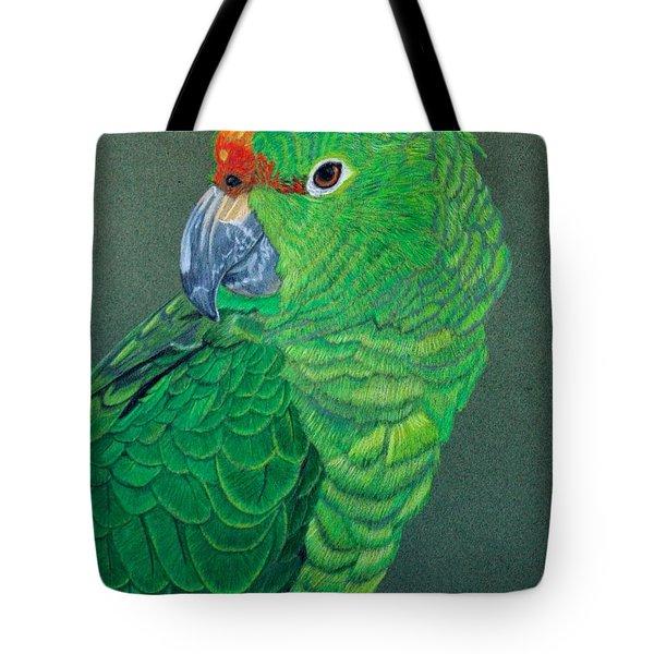Green Conure Tote Bag
