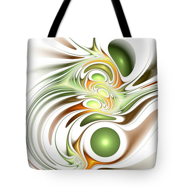 Green Creation Tote Bag by Anastasiya Malakhova