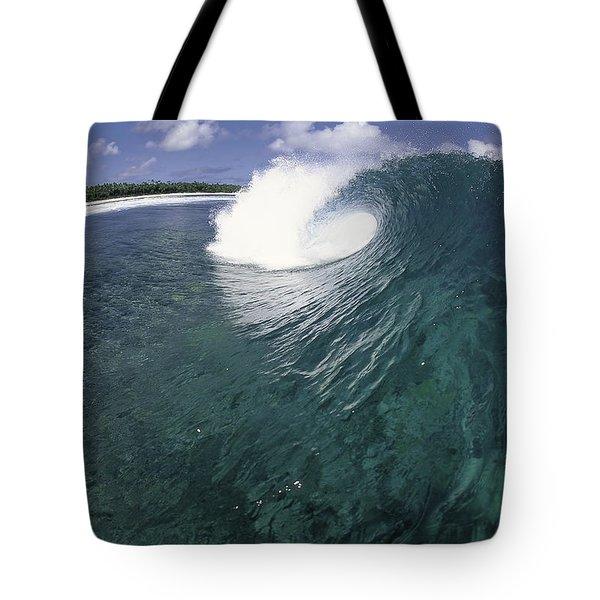 Green Curl Tote Bag by Sean Davey