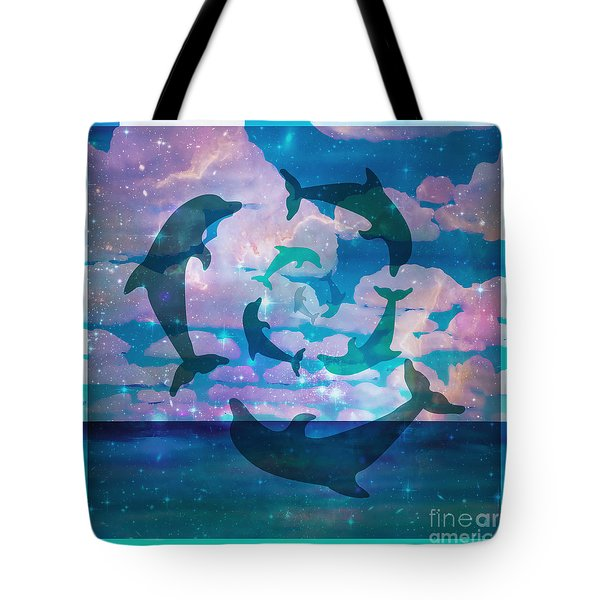 Green Dolphin Dance Tote Bag