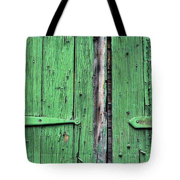 Green Door Tote Bag by Steve Archbold