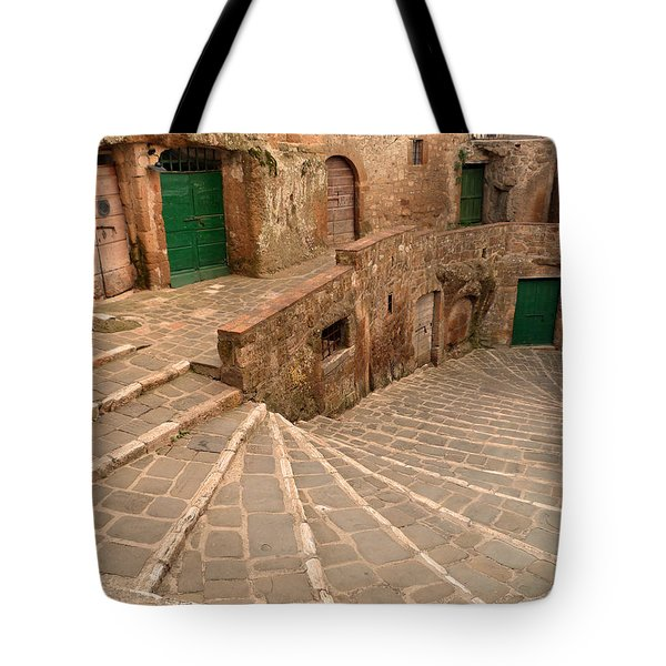 Green Doors Tote Bag by Alan Socolik