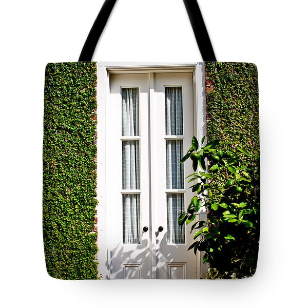Green Doorway Tote Bag by Jean Haynes