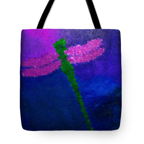 Green Dragonfly Tote Bag by Anita Lewis