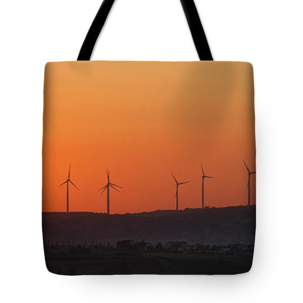 Green Energy Tote Bag by Stelios Kleanthous