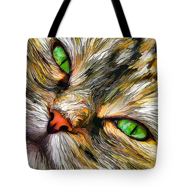 Green-eyed Tortie Tote Bag