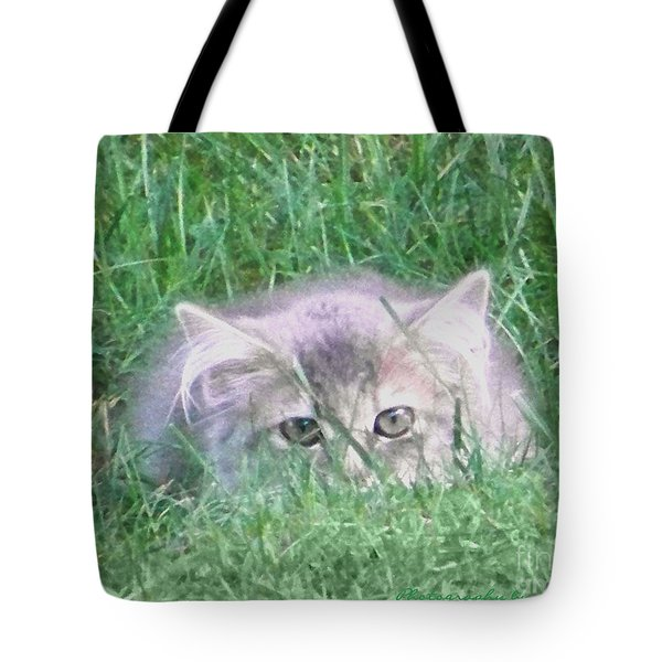 Tote Bag featuring the photograph Green Eyes by Gena Weiser