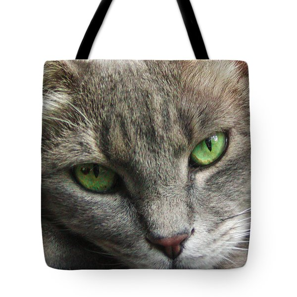 Tote Bag featuring the photograph Green Eyes by Leigh Anne Meeks