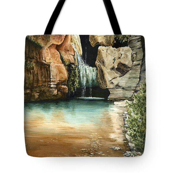 Green Falls II Tote Bag