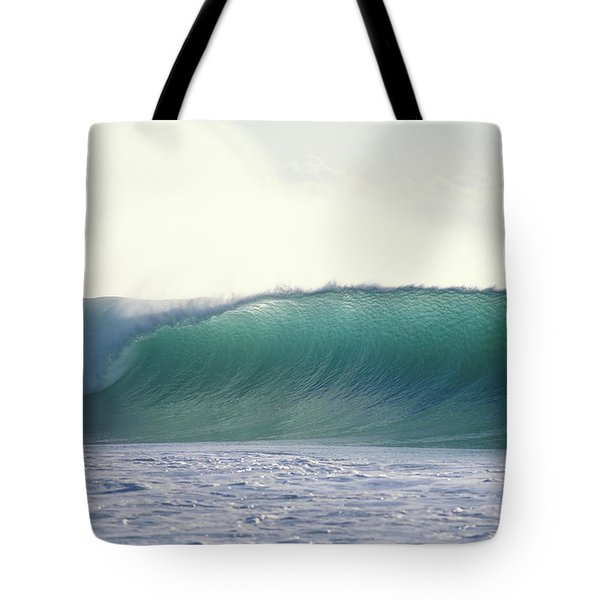 Green Feather Tote Bag by Sean Davey