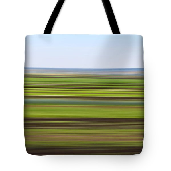 Green Field Abstract Tote Bag
